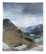 Grinnell Glacier Overlook Vista - Glacier National Park Fleece Blanket