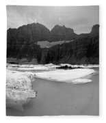 Grinnell Glacier Panorama Fleece Blanket