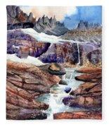 Grinnell Glacier Fleece Blanket
