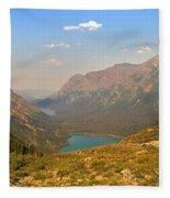 Grinnell Glacier Trail Glacier National Park Fleece Blanket