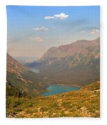 Grinnell Glacier Trail Panorama Fleece Blanket