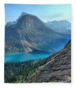 Grinnell Lake - Many Glacier Fleece Blanket