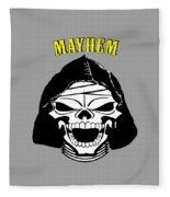 Grinning Mayhem Death Skull Fleece Blanket