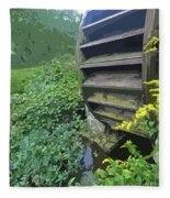 Grist Mill Water Wheel Cape Cod Fleece Blanket