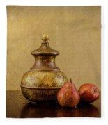 Grit And Pears Fleece Blanket