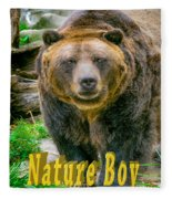 Grizzly Bear Nature Boy    Fleece Blanket