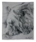 Grizzly Sketch Fleece Blanket