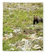 Grizzly Watching People Watching Grizzly No. 2 Fleece Blanket