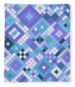Groovy Blues Fleece Blanket