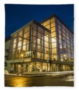 Groovy Modern Architecture One Wintry Night Fleece Blanket