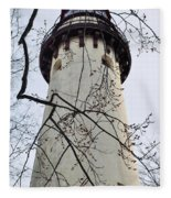 Grosse Point Lighthouse Tower Fleece Blanket
