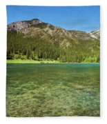Grotto Pond Canmore Alberta Fleece Blanket