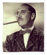 Groucho Marx Fleece Blanket