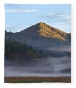 Ground Fog In Cataloochee Valley - October 12 2016 Fleece Blanket