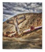Grounded Plane Wreck Fleece Blanket