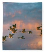 Group Flight Fleece Blanket