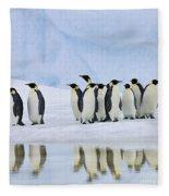 Group Of Emperor Penguins Fleece Blanket