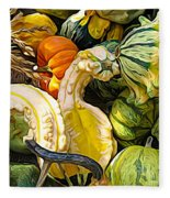 Group Of Gourds Expressionist Effect Fleece Blanket