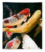 Group Of Koi Fish Fleece Blanket
