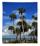 Group Of Palms Fleece Blanket