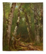 Group Of Trees Fleece Blanket