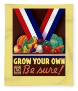Grow Your Own Victory Garden Fleece Blanket