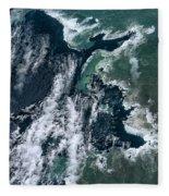 Growing Kapoho Coastline Fleece Blanket