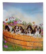 Growing Puppies Fleece Blanket