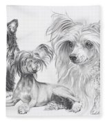Growing Up Chinese Crested And Powderpuff Fleece Blanket