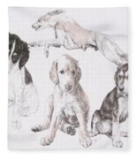 Growing Up Saluki Fleece Blanket