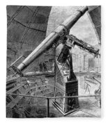 Grubb Refractor Telescope, Vienna, 1881 Fleece Blanket