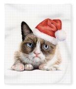 Grumpy Cat As Santa Fleece Blanket
