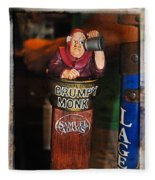 Grumpy Monk Fleece Blanket