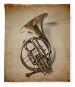 Grunge French Horn Fleece Blanket