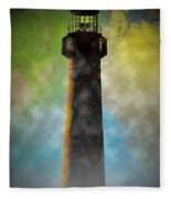 Grunge Lighthouse Fleece Blanket