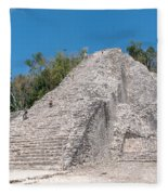 Grupo Nohoch Mul At The Coba Ruins  Fleece Blanket