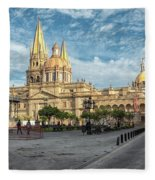 Guadalajara Cathedral Fleece Blanket
