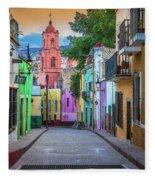 Guanajuato Backstreet Fleece Blanket