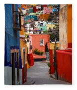 Guanajuato Lane Fleece Blanket