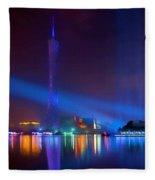 Guangzhou Tv Tower 1 Fleece Blanket