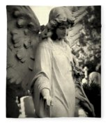 Guardian Angel Watching Over Fleece Blanket