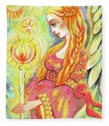 Guardian Mother Of Light Fleece Blanket