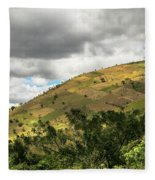 Guatemalan Mountains -  Ciudad Vieja Guatemala Fleece Blanket