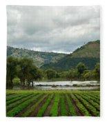 Guatemalan Nursery And Lake Fleece Blanket