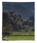 Guatemalan Pastoral Scene 2 Fleece Blanket