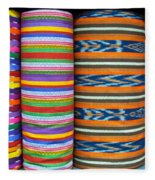 Guatemalan Woven Fabric Fleece Blanket