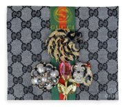 Gucci With Jewelry Fleece Blanket