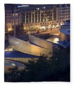 Guggenheim At Night Fleece Blanket