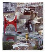 Guggenheim Bilbao Museum II Fleece Blanket