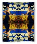 Guiar-symmetrical Art Fleece Blanket